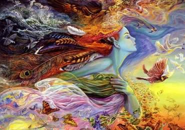 Josephine Wall'un The Spirit of Flight adlı eseri